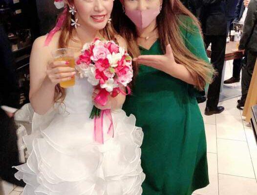 結婚式二次会中💕